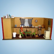 German wooden kitchen - room setting and contents