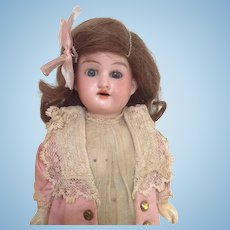 All original AM 390 bisque headed doll
