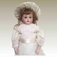 Kestner 166 kid bodied bisque head doll