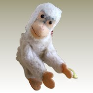 White Steiff Jocko monkey with button