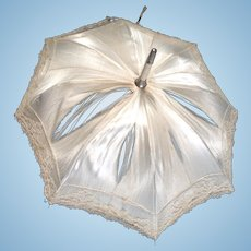 Pretty satin antique dolls parasol