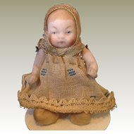 Small all bisque German baby doll