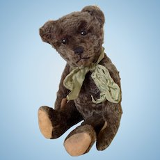 Early Frosted mohair German boot button eyed bear