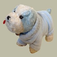 Blue and White Buster dog made by Farnell