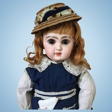 Cabinet sized Closed mouth French Bebe Jumeau
