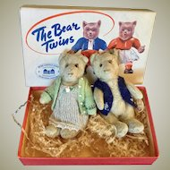 Steiff Teddy Baby Twins 1930's plus box