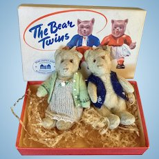 Steiff Teddy Baby Twins 1930's plus box