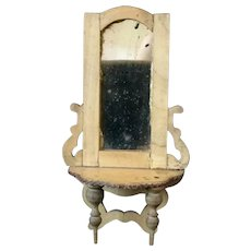 Dolls house console table mirror