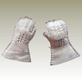 Fashion doll kid leather gloves
