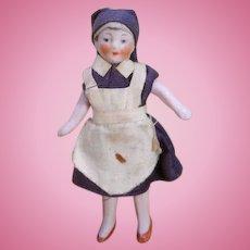 German all bisque nurse dolls house doll