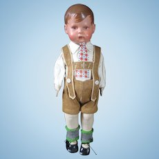 Cuno and Otto Dressel Celluloid head doll 14 inches