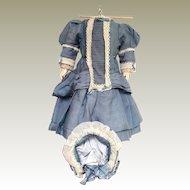 Dolls Dress and Bonnet