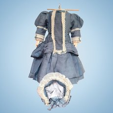 Dolls Dress and Bonnet