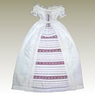 Christening gown suitable for small wax or other early doll