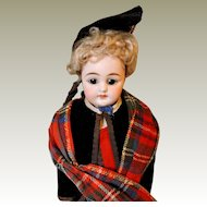 "Closed Mouth Simon and Halbig 950 ""Scottish"" doll all original"