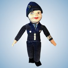 Nora Wellings Mascot Policeman doll
