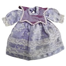 Small Dolls Dress made from antique fabric