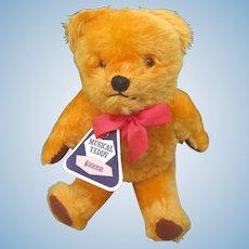 A British Musical Bear by Blue Ribbon 1950's