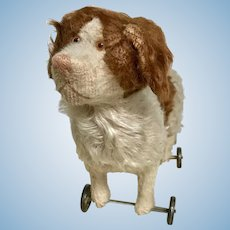 Early Bing Dog on metal wheels