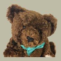 French Chestnut mohair teddy bear by Murcy