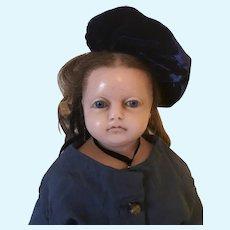 English Poured wax Montanari girl doll