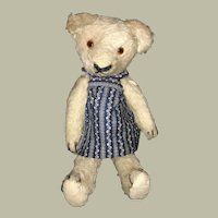 Sweet little stick bear faded blue