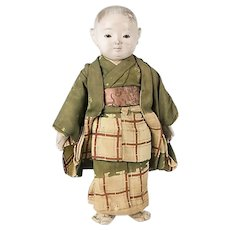 Japanese boy gofun Ichimatsu doll 1930's
