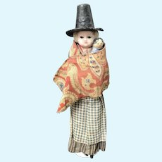Early Wax over composition doll with Grodnerthal baby