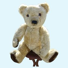 A Fine Merrythought bear c.1930's with label and button