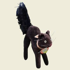 Small size Steiff black cat with ID