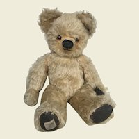 Chad Valley bear c.1950's with Queen Mother label
