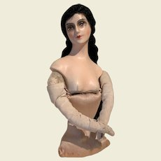 Composition half doll in fabulous condition