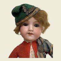 Armand Marseille 390 All original doll dressed in Scottish uniform