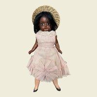 Small German Mulatto bisque head doll