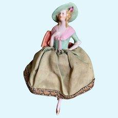 German half doll  with porcelain legs