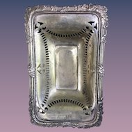 Antique Silver Plate English Soap Dish 1906