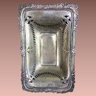 Antique Silver Plate English Soap Dish 1906