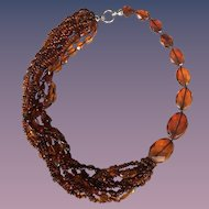 Unique Designer Baltic Amber Necklace