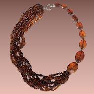 Unique Designer Baltic Amber Necklace