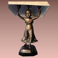 German Bronze Figural Table Lamp- c.1930