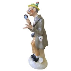 Fine China Figurine of Dandy-Researcher by Fasold & Stauch, Germany, late 19th-early20th c.
