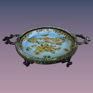 Vintage Hand-painted Hallmarked Ceramic-Bronze Soap Dish