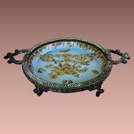 Vintage Hand-painted Hallmarked Ceramic-Bronze Soap Dish