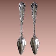 YALE 1894 by Wm. Rogers 2 Narrow Bowl Citrus spoons