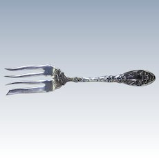 Narcissus Pattern Oxford Silver Co Silver Plate Meat Fork