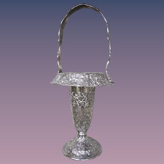 Antique Silver Plated Basket by the Barbour Silver Company