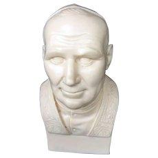 Vintage Bust of Saint Pope John Paul II by T. Bianchi