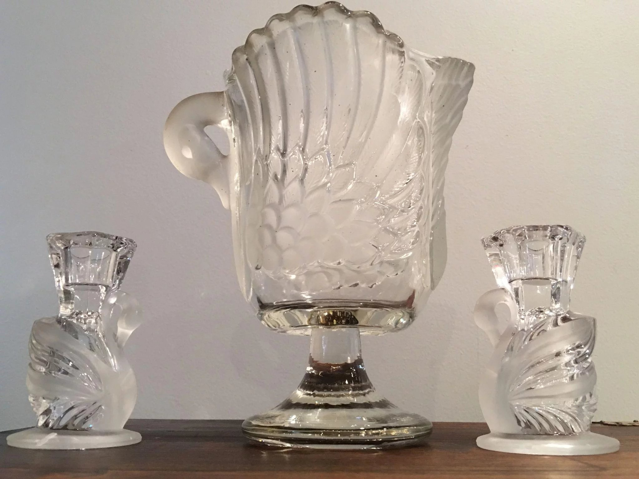 Vintage mikasa walther crystal swan vase and a pair of click to expand floridaeventfo Choice Image