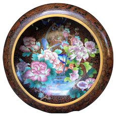 """Mid-century Large Chinese Cloisonne Bowl 15"""" - Red Tag Sale Item"""