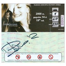 Celebrity Autograph- Patricia Kaas- French Singer-Actress Authentic Signature